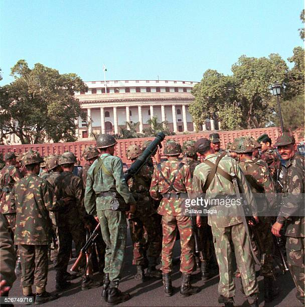 Seven civilians and five terrorists were killed in a suicide attack on the Indian Parliament A bomb exploded on the premises of the Indian Parliament...