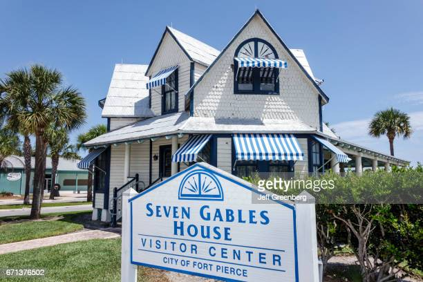 Seven Gables House Visitor Center sign