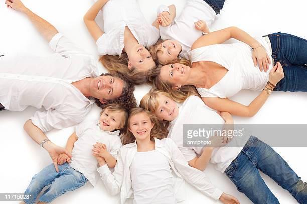 seven happy family members