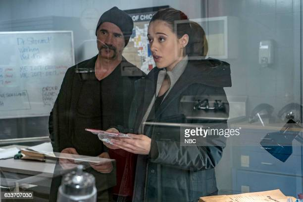 D 'Seven Indictments' Episode 414 Pictured Elias Koteas as Alvin Olinsky Marina Squerciati as Kim Burgess