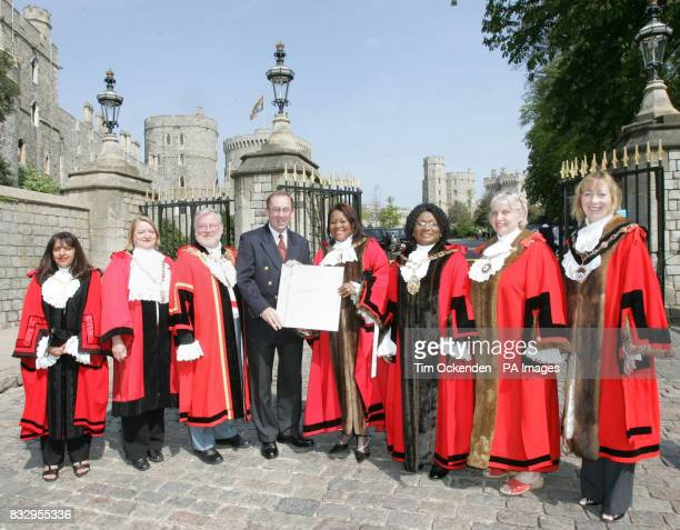 Seven Mayors from London boroughs Jyoti Vaja Mayor Islington Falicity Barwood Mayor of Hounslow David Routledge Mayor of Hillingdon Bertha Josepa...
