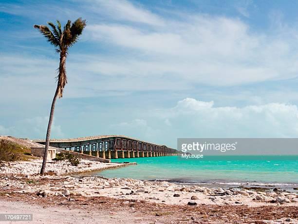 Seven Mile Bridge Overseas Highway Through Bahia Honda In The Florida Keys