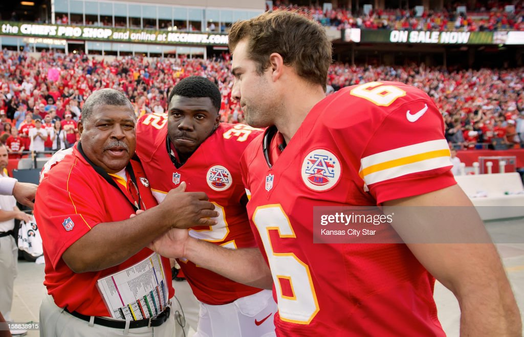 Seven NFL coaches were fired Monday, December 31, 2012, including Kansas City head coach Romeo Crennel. Here, Crennel is congratulated by Chiefs running back Cyrus Gray (32) and kicker Ryan Succop (6) following Kansas City's 27-21 win over the Carolina Panthers at Arrowhead Stadium in Kansas City, Missouri, on Sunday, December 2, 2012.
