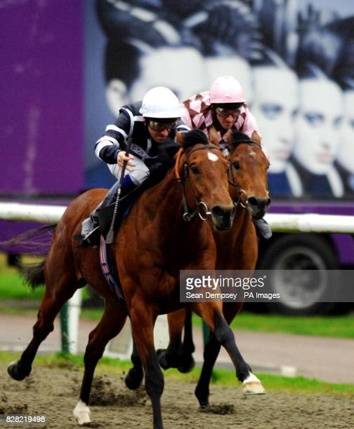 Seven Samurai ridden by jockey Richard Hills on the way to winning the Betdirectcouk Nursery Handicap at Lingfield Racecourse Lingfield Thursday...