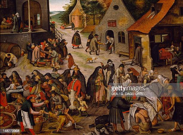 Seven works of mercy by Pieter Brueghel the Younger Lisbon Museu Nacional De Arte Antiga