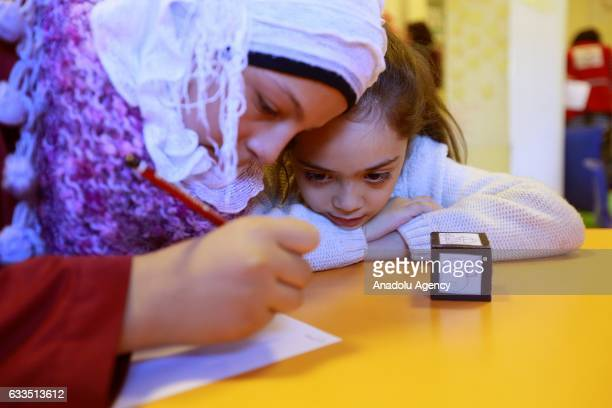 A seven years old Syrian girl Bana Alabed visits and spends time with her peers at Turkish Red Crescent Community Center in Altindag district of...