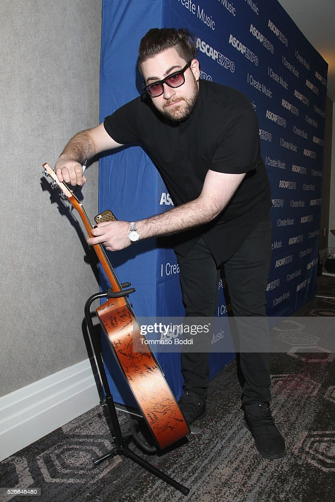 Seven30 Music CEO Nick Jarjour NAME signs a #StandWithSongwriters guitar, which will be presented in May to members of Congress to urge them to support reform of outdated music licensing laws, during the 2016 ASCAP 'I Create Music' EXPO on April 30, 2016 in Los Angeles, California.