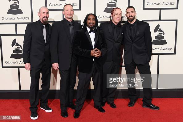 Sevendust attends The 58th GRAMMY Awards at Staples Center on February 15 2016 in Los Angeles California