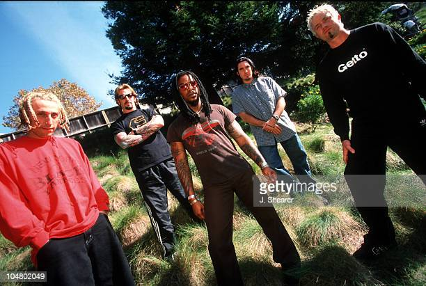 Sevendust during Sevendust Photo Session at Shoreline Amphitheatre in Mountain View California United States
