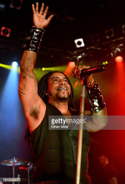Sevendust singer Lajon Witherspoon performs at the Railhead at the Boulder Station Hotel Casino as the band tours in support of the new album 'Black...