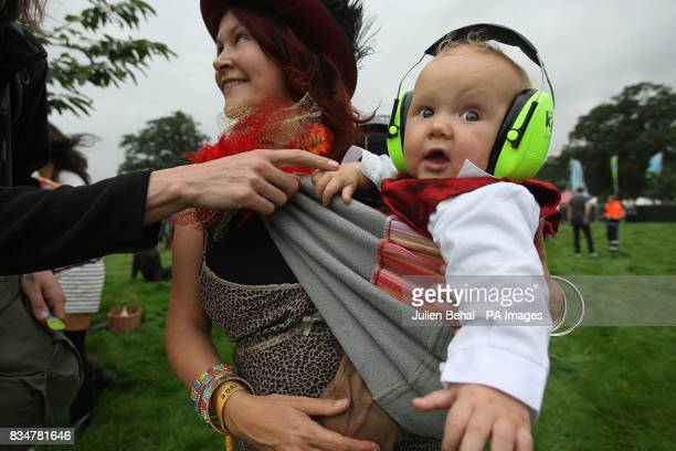 Sevenmonthold Oisin Towers protects his ears at Ireland's largest boutique music festival The Electric Picnic The festival features acts including...