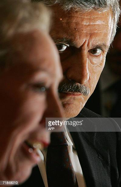 British Foreign Secretary Margaret Beckett addresses a press conference with her Italian counterpart Massimo D`Alema at Chevening House in Kent in...