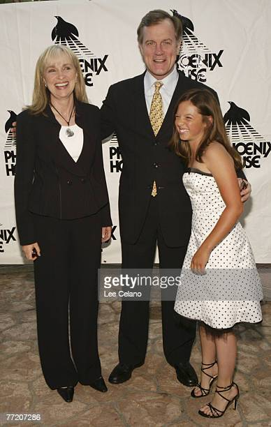 'Seventh Heaven' creator and executive producer Brenda Hampton with cast members Stephen Collins and MacKenzie Rosman
