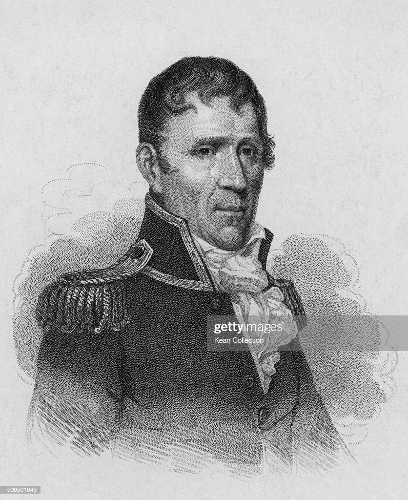 Seventh President of the United States General <a gi-track='captionPersonalityLinkClicked' href=/galleries/search?phrase=Andrew+Jackson+-+US+President&family=editorial&specificpeople=99326 ng-click='$event.stopPropagation()'>Andrew Jackson</a> (March 15, 1767 - June 8, 1845), 1815. Engraved by C. Phillips after the original painting by Jarvis.