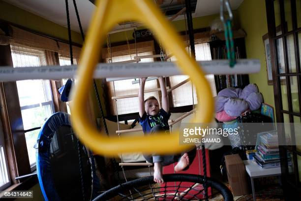 Sevenyearold transgender boy Jacob Lemay plays in his house in Melrose Massachusetts on May 9 2017 For months in the Lemay home the same phrase was...