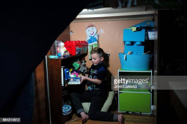 Sevenyearold transgender boy Jacob Lemay plays in his room in Melrose Massachusetts on May 9 2017 For months in the Lemay home the same phrase was...