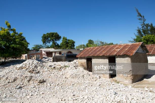 PortauPrince Haiti December 09 2012 Several abandoned houses in a destroyed village damaged from the devastating earthquake in 2010 near PortauPrince
