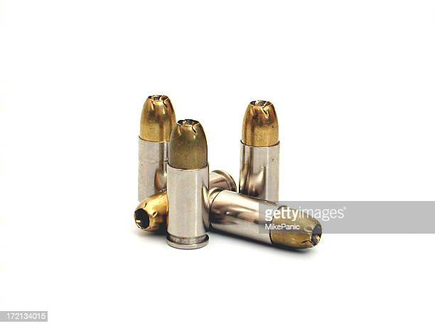 Several bullets isolated on a white background