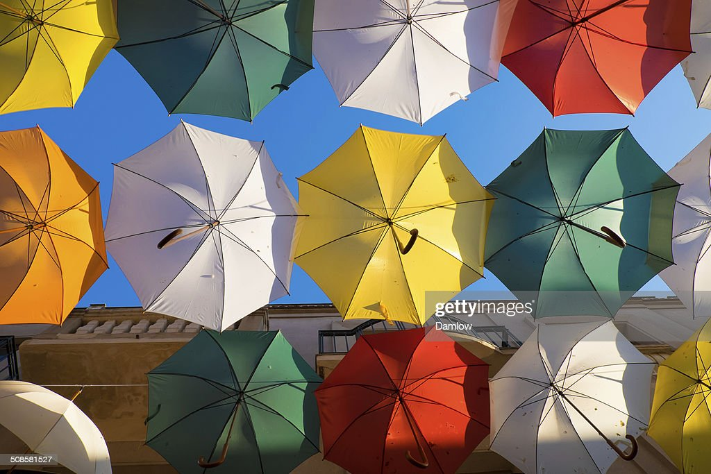 several colorful umbrella : Stock Photo