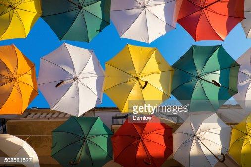 several colorful umbrella : Stock Photo