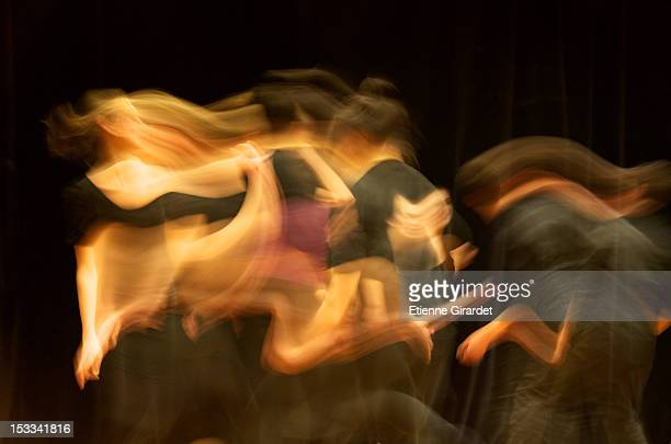 Several female dancers performing