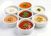 several sauce, cuisine, food