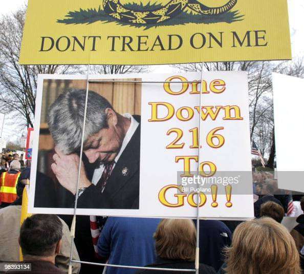 Several thousand people attend a Tea Party Express rally April 11 2010 in Clinton Township Michigan The Tea Party Express members are on a...
