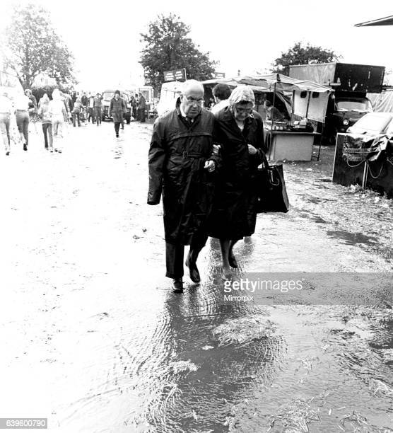 Severe stormy weather with torrential rain and flooding at the annual Summer Exhibition on the Newcastle Town Moor on August 1 1980