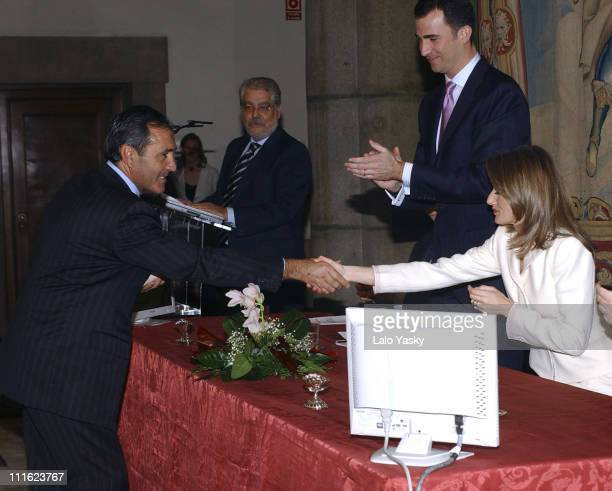 Severiano Ballesteros Crown Prince Felipe and Princess Letizia