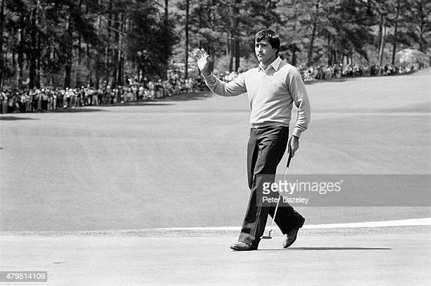 Severiano Ballesteros of Spain during the 44th Masters Tournament at Augusta National Golf Club on April 13 1980 in Augusta Georgia