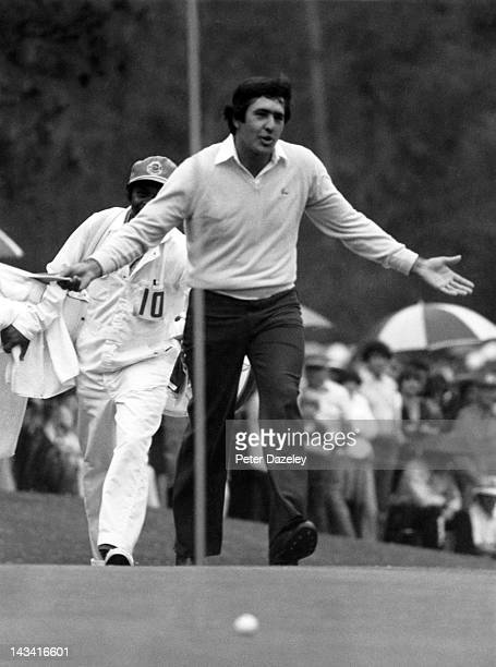 Severiano Ballesteros of Spain during the final round of the 1980 Masters Tournament at Augusta National Golf Club on April 13 1980 in Augusta Georgia