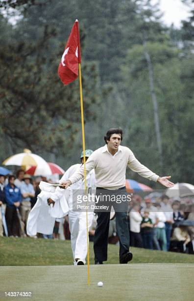 Severiano Ballesteros of Spain during the third round of the 1980 Masters Tournament at Augusta National Golf Club on April 12 1980 in Augusta Georgia