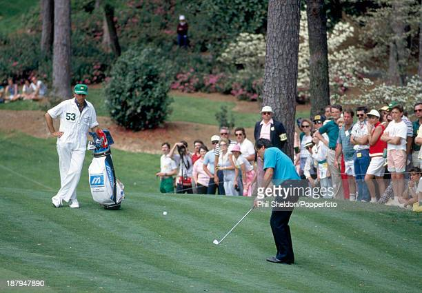 Severiano Ballesteros of Spain in action during the US Masters Golf Tournament held at the Augusta National Golf Club Georgia circa April 1987...