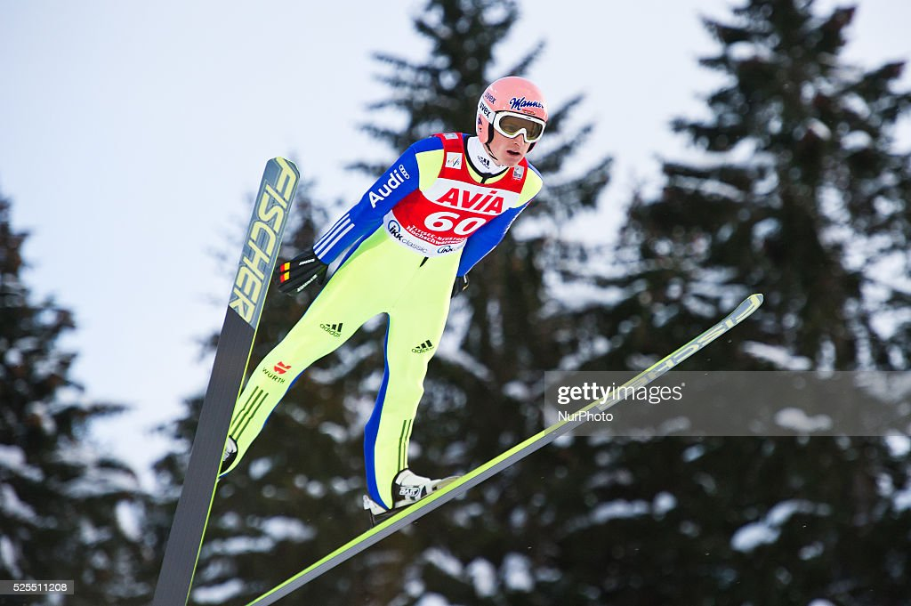 Severin Freund in flight during the Large Hill Individual competition on day two of the FIS Ski Jumping World Cup on February 8 2015 in Titisee...