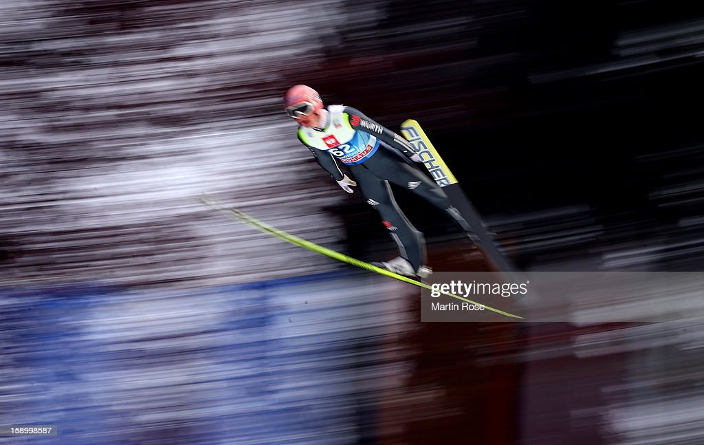 Severin Freund of Germany competes during the final round for the FIS Ski Jumping World Cup event of the 61st Four Hills ski jumping tournament at Bergisel-Stadion on January 4, 2013 in Innsbruck, Austria.