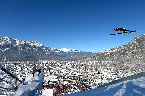 Severin Freund of Germany competes on day 4 of the Four Hills Tournament Ski Jumping event at OlympiaSchanze on January 1 2015 in...