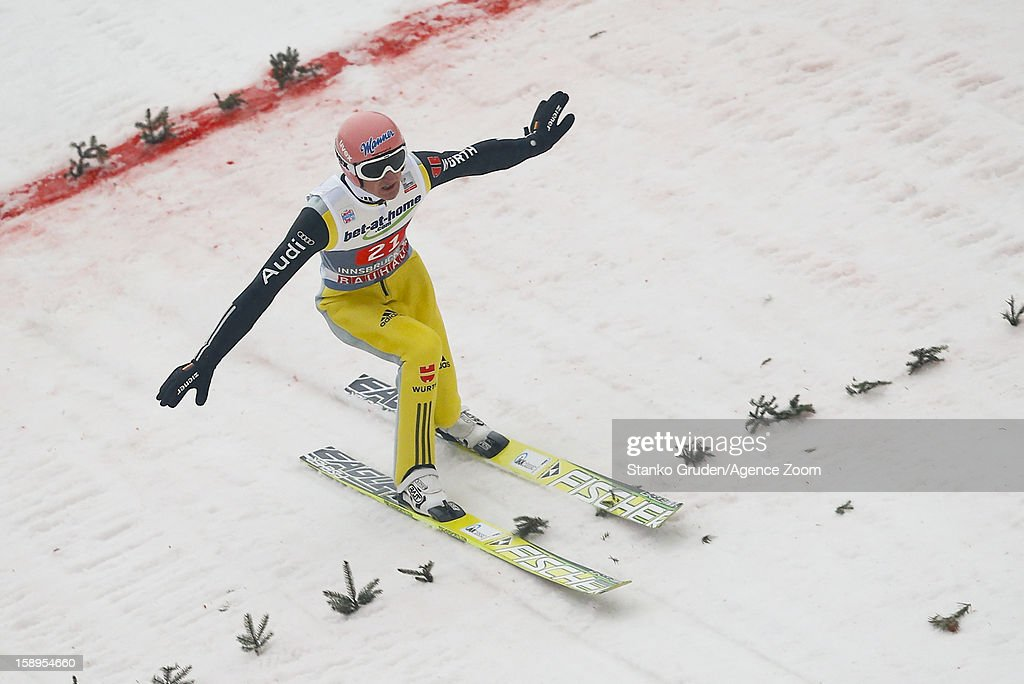 Severin Freund of Germany during the FIS Ski Jumping World Cup Vierschanzentournee (Four Hills Tournament) on January 04, 2013 in Innsbruck, Austria.