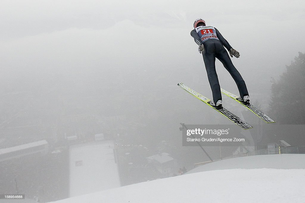 Severin Freund of Germany during the FIS Ski Jumping World Cup Vierschanzentournee (Four Hills Tournament) on January 04, 2013 in Innsbruck, Austria.