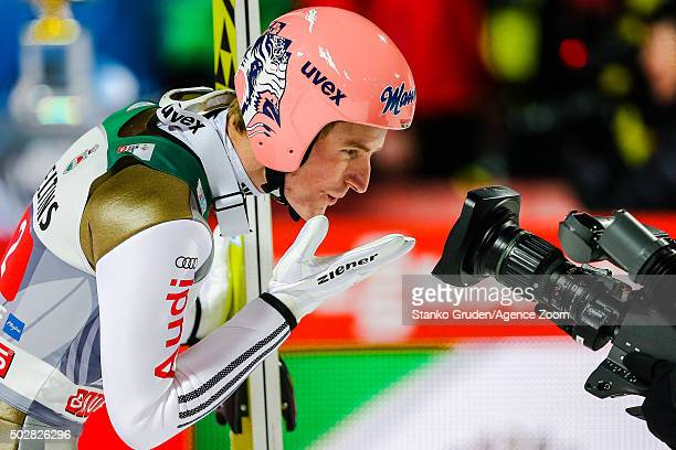 Severin Freund of Germany takes 1st place competes during the FIS Nordic World Cup Four Hills Tournament on December 29 2015 in Oberstdorf Germany