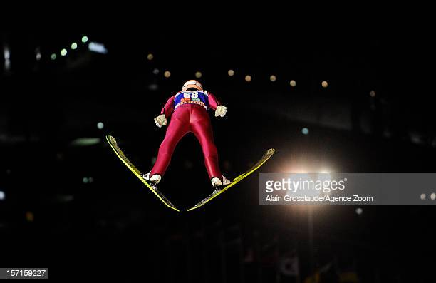 Severin Freund of Gremany during the qualifications of the FIS Ski Jumping World Cup Men's HS142 on November 29 2012 in Kuusamo Finland
