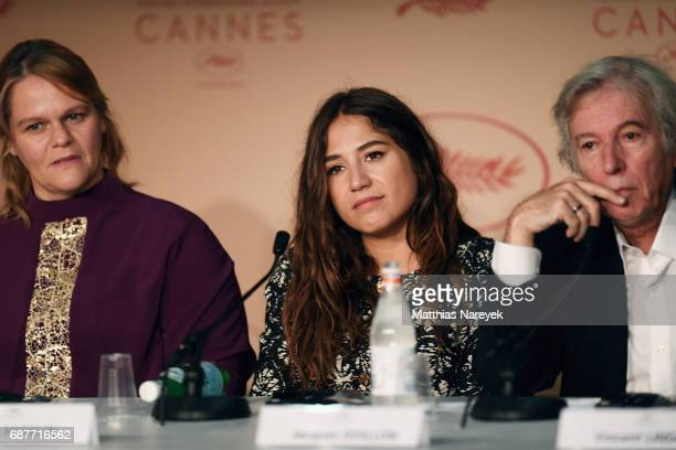 Severine Caneele Izia Higelin and director Jacques Doilon attend the 'Rodin' press conference during the 70th annual Cannes Film Festival at Palais...