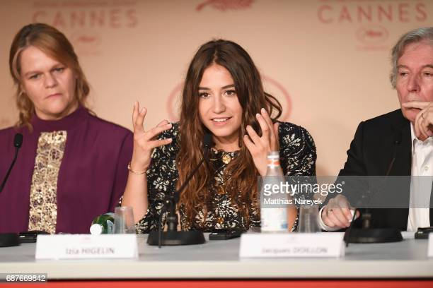 Severine Caneele Izia Higelin and Jacques Doilon attend the 'Rodin' press conference during the 70th annual Cannes Film Festival at Palais des...