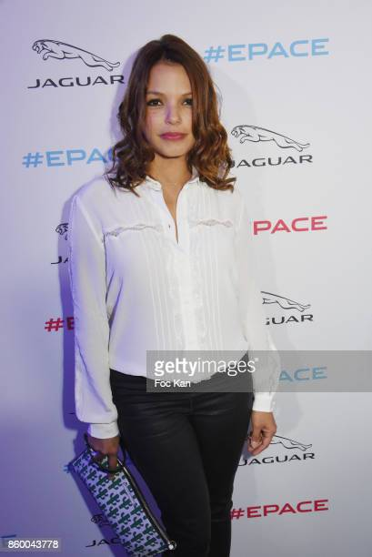 Severine Ferrer attends Jaguar EPace Launch Party at Studio Acacias on October 10 2017 in Paris France
