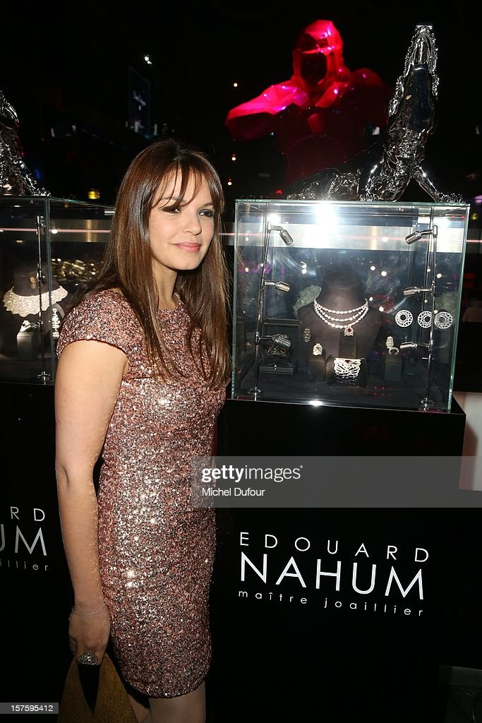 Severine Ferrer attends jeweler Edouard Nahum's 'Maya' collection launch cocktail party at La Gioia on December 4, 2012 in Paris, France.