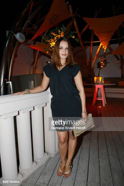 Severine Ferrer attends 'Suite Michele Morgan Opening' at Hotel Majestic Barriere on October 7 2017 in Cannes France
