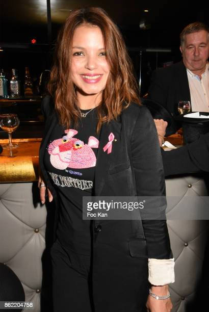 Severine Ferrer attends the 'Souffle de Violette' Auction Party As part of 'Octobre Rose' Hosted by Ereel at Fidele Club on October 16 2017 in Paris...