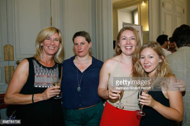 Severine Liebaut Mathilde Hennegrave Agathe L'Huillier and Geraldine Martineau attend the 'Caisse d'Epargne IleDeFrance' supports the Ceremony of the...