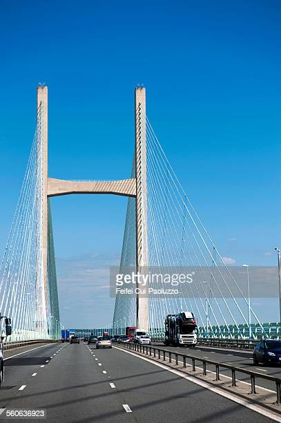 Severn bridge near Bristol South West England