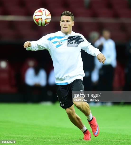 Sevilla's Kevin Gameiro trains at the stadium