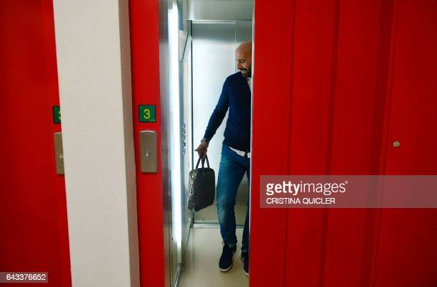 Sevilla's Sports director Ramon Rodriguez Verdejo 'Monchi' arrives at the Ramon Sanchez Pizjuan stadium for an AFP interview in Sevilla on February 8...